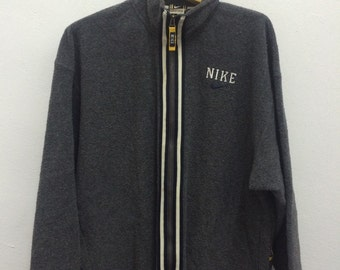 Vintage Nike Wool Jacket Size L 90s Fleece