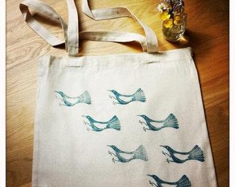 Flight - Bag / Tote Bag in cotton, reasons birds