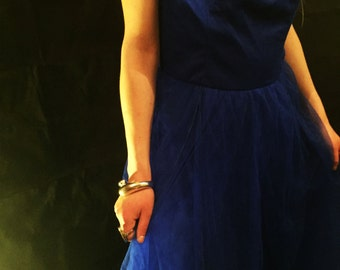 Vintage blue formal dress