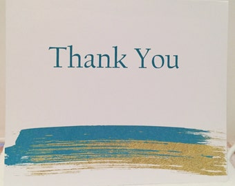 Brushed Thank You Cards
