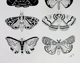 Black and White Butterfly Print, Wall Art for the Home
