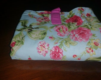 Girl Nappy change mat clutch/ diaper wallet