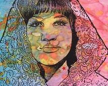 ARETHA FRANKLIN Pop Art Original Painting