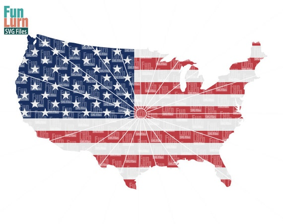 Th Of July Svg US Map Svg Flag US USA I Love America - Red blue maps of the us