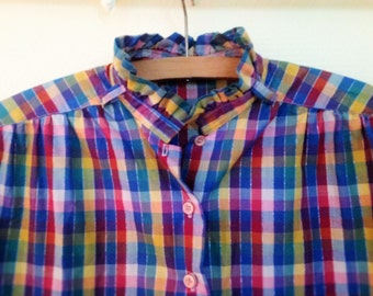 Blouse shirt Plaid