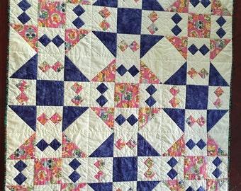 Handmade baby quilt - Caterina