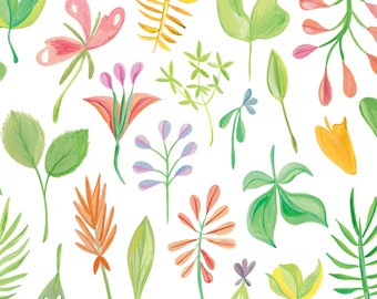 Spring Floral Wrapping Print