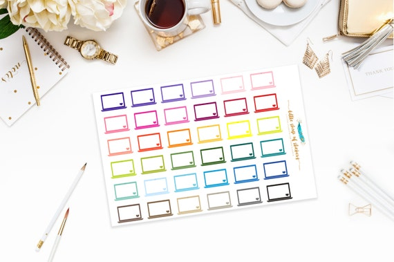 Laptop Planner Stickers, Stickers For Planning, Work Planner Stickers, Laptop Stickers