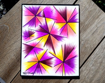 soul burst - custom illustration, pink star burst