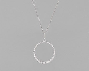 necklace of diamonds 1 CT gold 14 k
