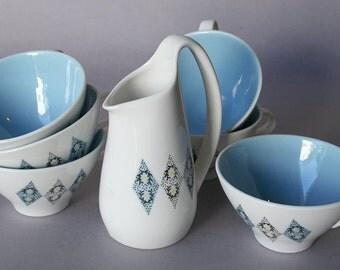 Coffee cups and creamer-Iroquois Ben Seibel Design - Mid century (7) pieces