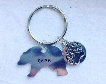 Papa Bear Keychain/ Necklace