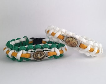 Mighty Morphin Power Rangers Green White Ranger Paracord Bracelet