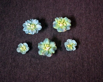Blue and Yellow Flower Magnets