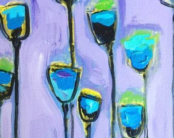 8x10- Blue Violet Poppies