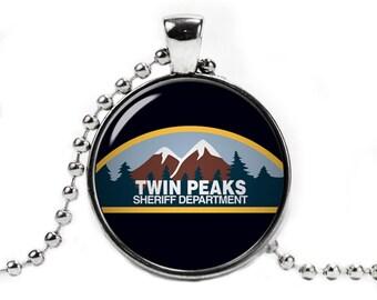 Twin Peaks Necklace Pendant Twin Peaks Jewelry Fandom Jewelry Geeky Jewelry
