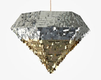 Diamond Piñata Gold & Silver