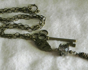 Steampunk jewelry - necklace - Number 57