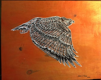 Redtailed Hawk Drawing