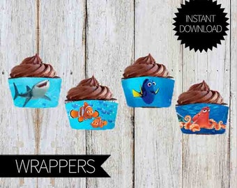 Finding Dory Birthday Party PRINTABLE Cupcake WRAPPERS - Instant Download | Finding Nemo