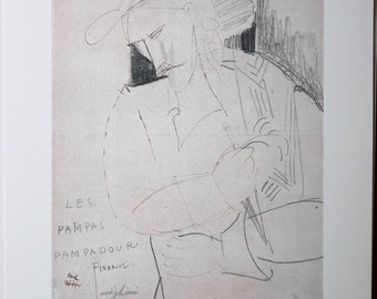Amedeo Modigliani (after) - pampas Pampadour