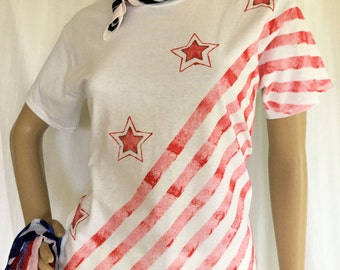 4th July 4 Stars w/ Diagonal Stripes
