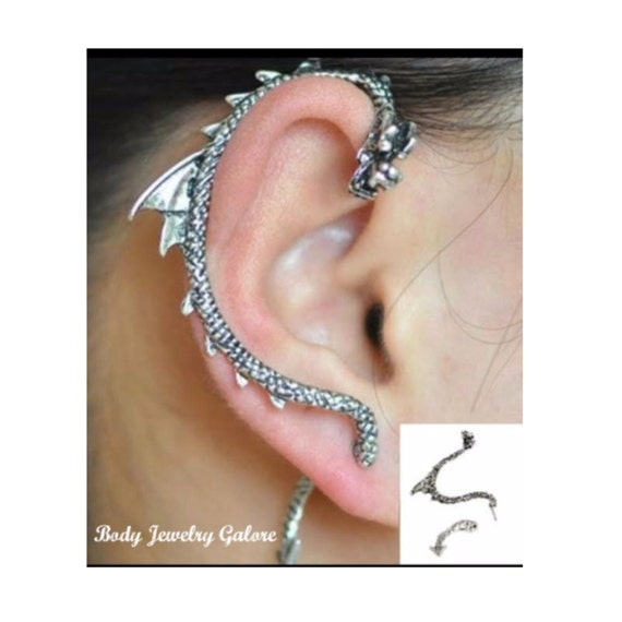 Dragon ear cuff wrap game of thrones inspired by bodyjewelrygalore - Game of thrones dragon ear cuff ...