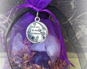 Peaceful Sleep Mojo Bag, Sleep Amulet Bag, Relaxation Spells, Herbal Bag, Gris Gris Bag, Sachet Bag, Witchcraft Supplies, Wicca Charm Bag