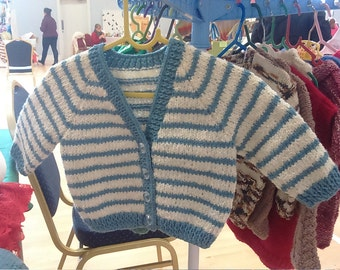 Toddler's Striped Cardi