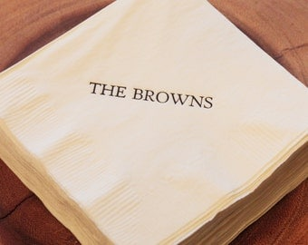Personalized Napkins with Name - Set of 100