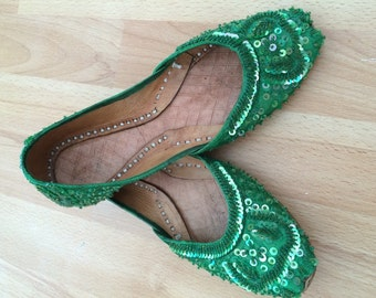 indian sequinned shoes