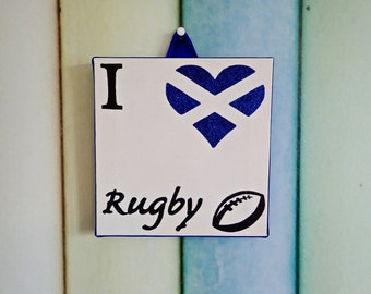 I Love Rugby canvas