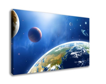 SPACE SOLAR SYSTEM Planets Astronomy Hd Canvas Wall Art