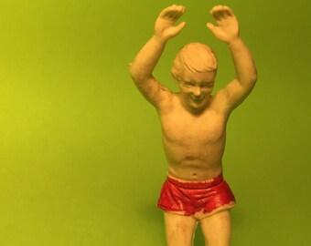 Marx Miniatures Swimming Pool Multi Figure Set 1960s