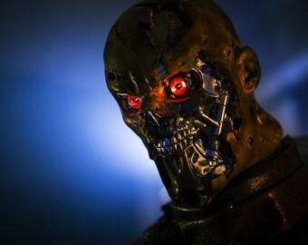 Terminator head bust statue T-600