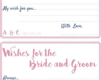 Bridal Shower - Game card