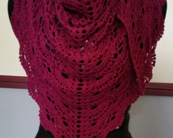 Hand crocheted scarf/shawl