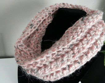 Light & Airy, mostly pink Cowl Scarf