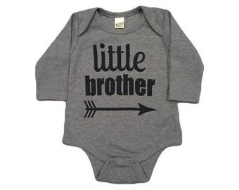 Little bother grey onsie