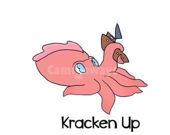 Kracken Up Kraken Print Original Design