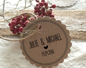 Personalized vintage wedding trailer
