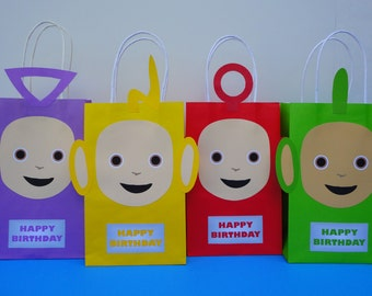 Printable--> Teletubbies Party Favor Bags/ Bag - Teletubbies Birthday Party Favors/ Goody/ Candy/ Goodie/Treat/ Loot Bags/ Bag