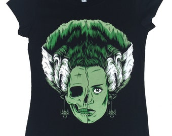 Bride of Frankenstein Universal Monsters Women T-Shirt