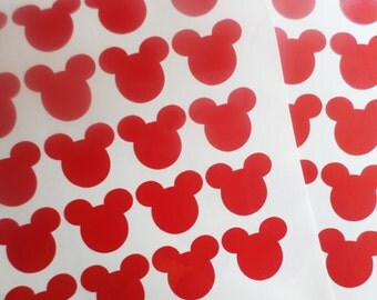 25 Mickey mouse stickers Mickey mouse decal Minnie mouse stickers Food packaging Scrapbooking stickers Envelope seal Party Cup Stickers