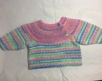 Baby pink fair isle sweater