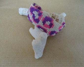 Miyuki pattern Leopard Rose bracelet