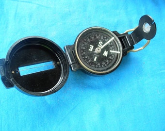 Vintage Plastic Lensatic Compass Made in Japan