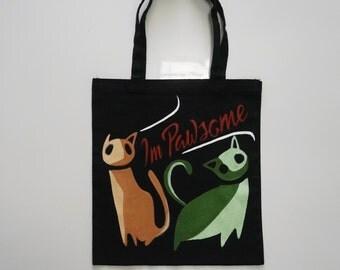 Pawsome Cat Tote Bag