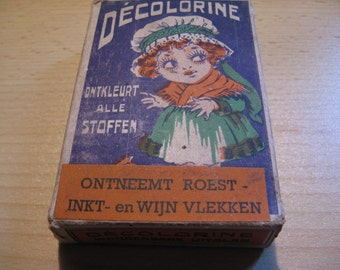Antique box Décolorine: deprives rust-Ink and wine stains ...