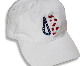 DZ  Delta Zeta Sorority Embroidered Patriotic Baseball Hat.